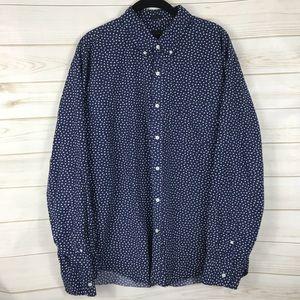[J. Crew] Navy Blue Floral Print Button Down Shirt